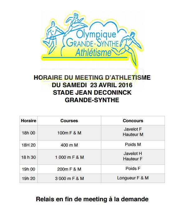 Meeting grande synthe